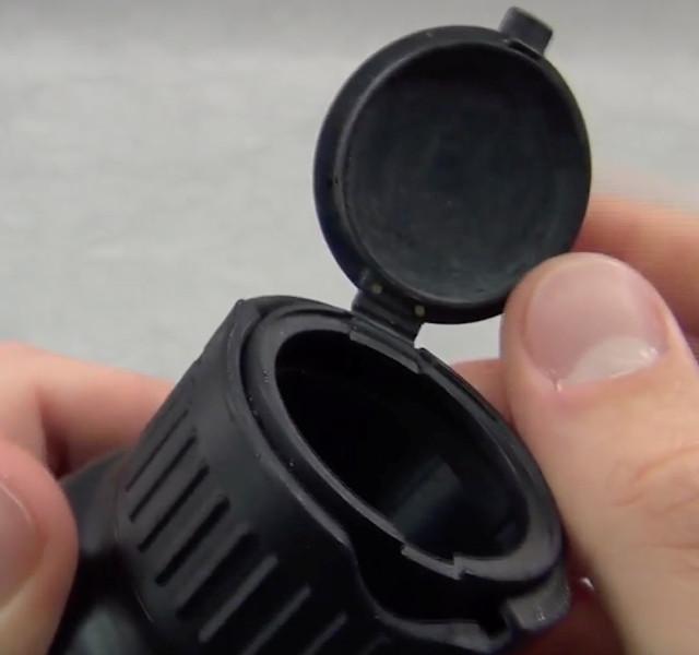 Child-safe bottle prototype with living hinge lid. (Image courtesy of Creative Mechanisms.)