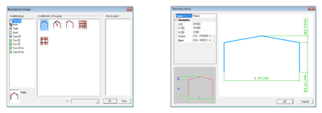 Figure 8: Selecting frame elements.