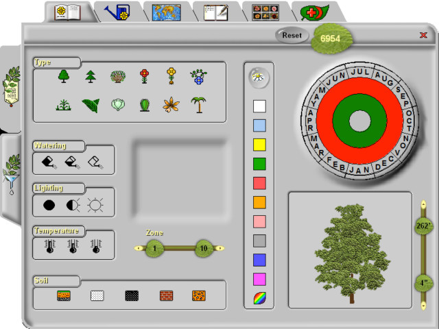 Figure 8: A screen grab of the Plant Encyclopedia available within Envisioneer Professional. This fascinating tool has a wealth of information a designer needs to choose plants based on location and design constraints.
