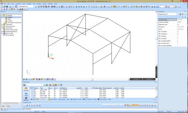 Figure 9: Frame with bracing.