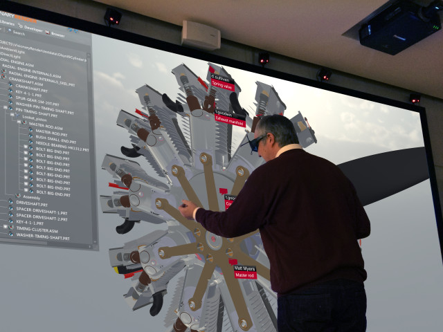 Technologiewerkstatt has recently installed a fully tracked Virtalis ActiveWall with Virtalis' VR software, Visionary Render. (Image courtesy of Virtalis.)
