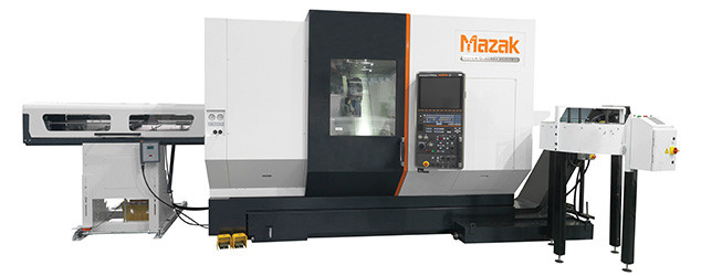 Mazak is a machine tool builder that offers automation solutions including gantry loaders, PALLETECH automation systems, and bar feeders. (Image courtesy of Mazak.)
