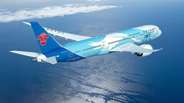 A China Southern Airlines Boeing 787-9. (Image courtesy of Boeing.)