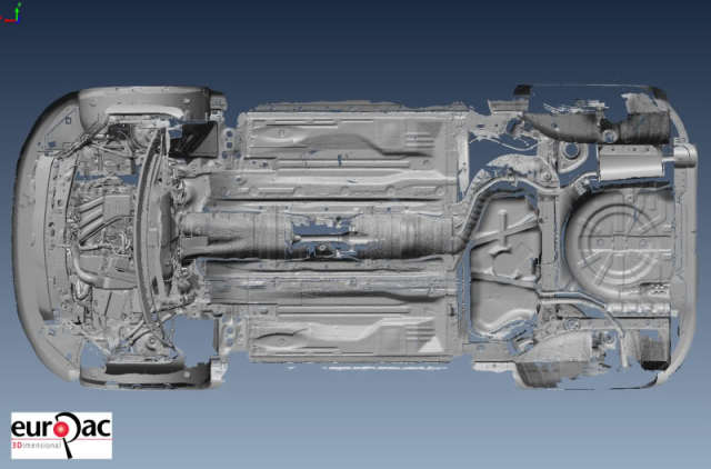 The car scan looking from above. (Image courtesy of Andy Goldstraw/The Laser Scanning Forum.)