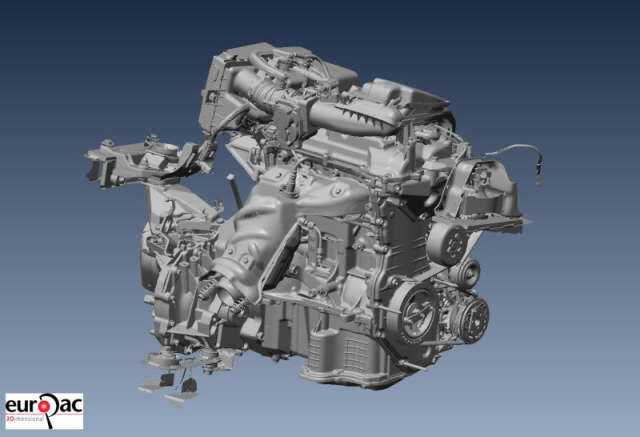Another angle on the engine. (Image courtesy of Andy Goldstraw/The Laser Scanning Forum.)