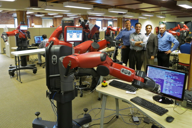 Rethink Robotics Baxter caught coding. (Photo by Steve Jurvetson from Menlo Park, USA.)
