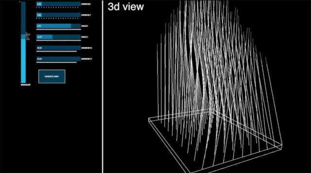 With Cillia, users can control the length, density, thickness and angle of 3D-printed hair. (Image courtesy of MIT Media Lab.)