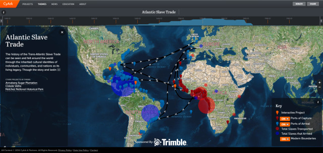 The digital preservation project currently includes three historical sites and data about slave populations to document the trans-Atlantic slave trade. (Image courtesy of CyArk.)