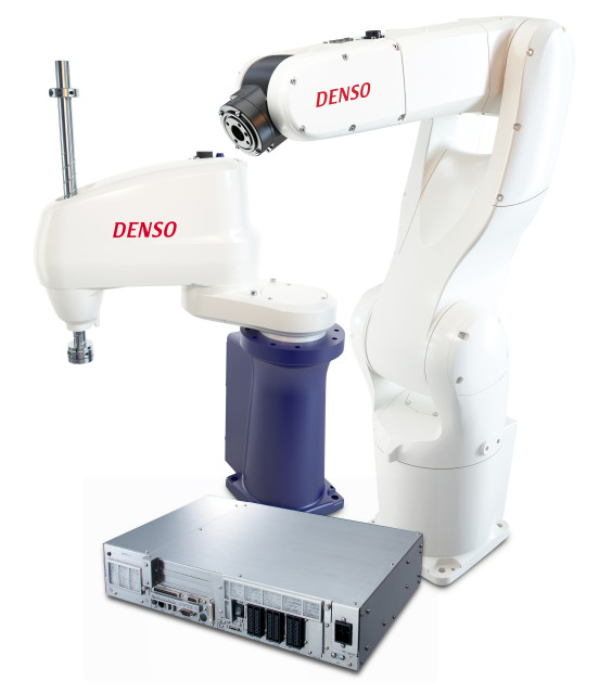 DENSO's latest RC8 robot controller allows DENSO robots to be controlled by Rockwell and Omron PLCs or PACs. Beta testing for Siemens and Mitsubishi PLCs and PACs is in progress.