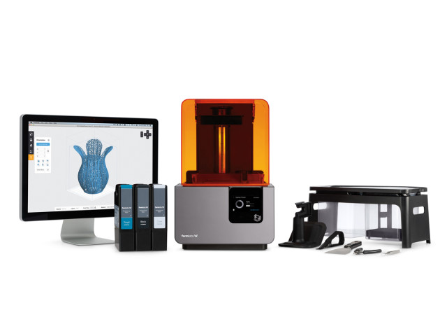 The Form 2 SLA 3D printer. (Image courtesy of Formlabs.)