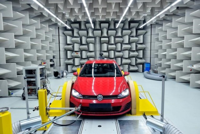 A semi-anechoic chamber in one of Faurecia's testing facilities. (Image courtesy of Faurecia.)