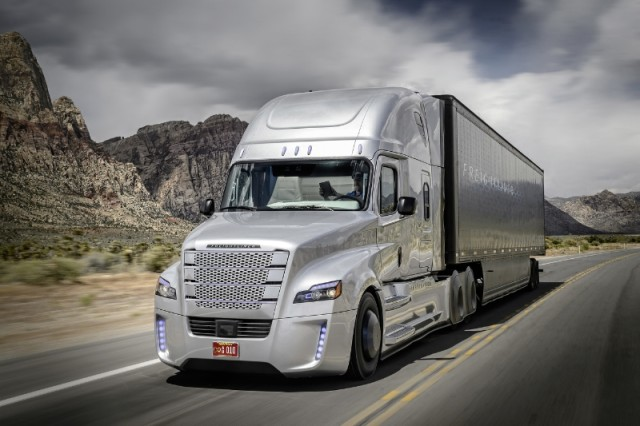 The Freightliner Inspiration Truck maybe be autonomous, but it isn't driverless.