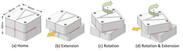 The Haptic Sandwich changes shape to direct users. Image courtesy Yale University.