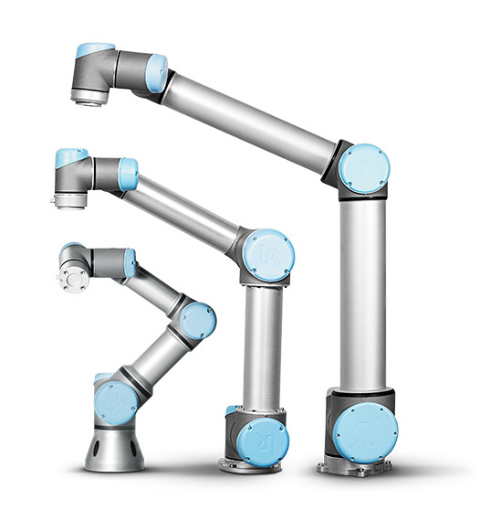 Universal Robots UR3, UR5, and UR10 collaborative robots. (Image courtesy Universal Robots)