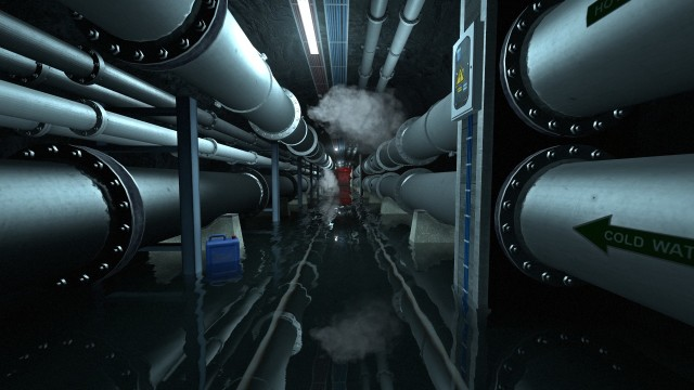 Where's the leak? Your structural analyst character has the fun task of solving problems with failing pipes. (Image courtesy of Loiste Interactive.)