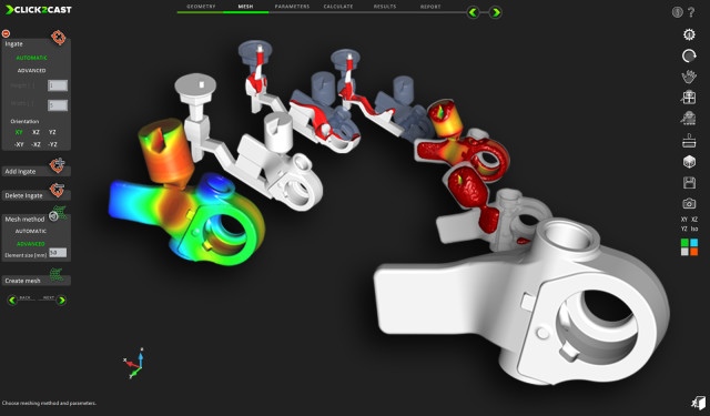Fit-for-purpose simulation tools like Altair's Click2Cast introduce CAE tools that are tailored to a specific task or industry. (Image courtesy of Altair.)