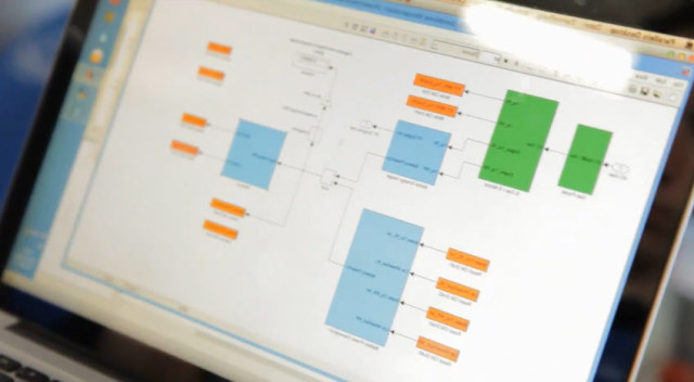 Control algorithms modelled in Simulink can be deployed onto ECUs (engine control units). This software provides a holistic toolchain for developing, deploying and testing control systems for automobiles.