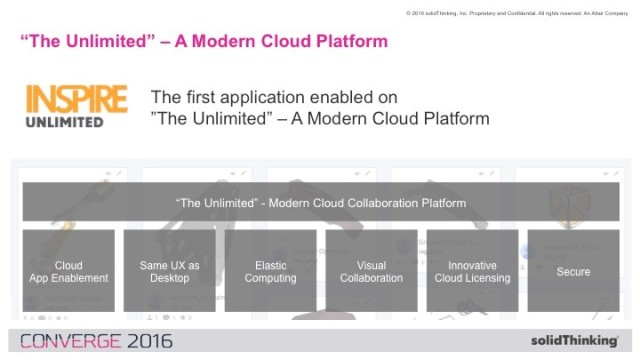 Unlimited tools will be cloud enabled with the same UI, scalable HPC, collaboration tools, cloud licensing and secure file storage. (Image courtesy of Altair.)