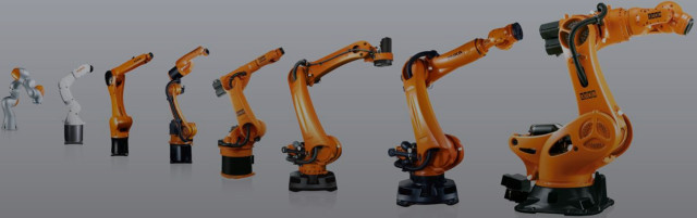 KUKA offers a variety of industrial robots for automated manufacturing. (Image courtesy of KUKA.)