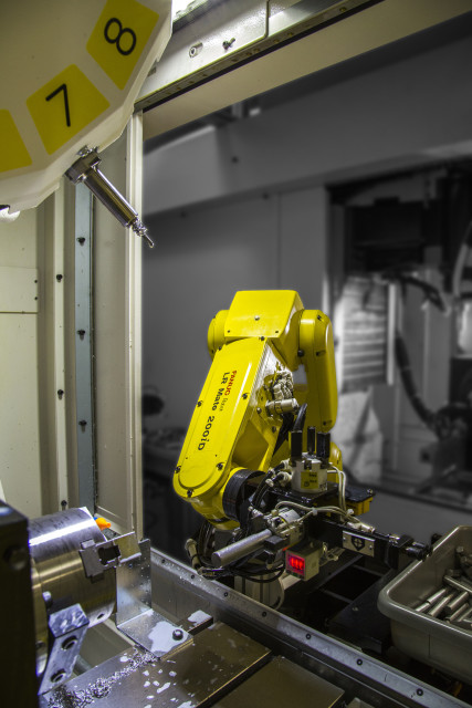 FANUC's extremely versatile LR Mate is a cost effective competitor to SCARA robots. (Image courtesy FANUC America.)