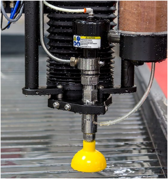 Cutting head on a MAXIEM 1515 JetMachining Center. (Image courtesy of Omax.)