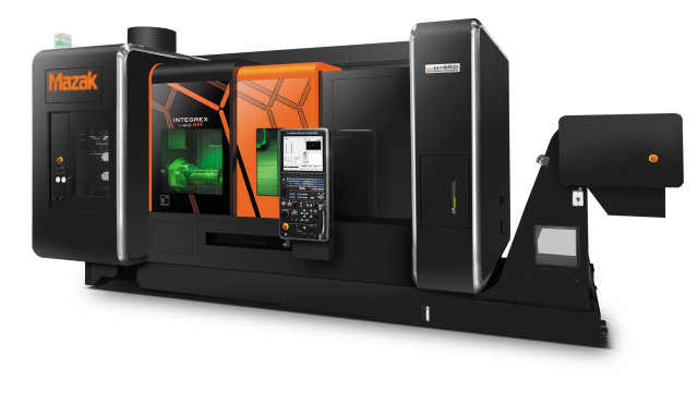 Mazak's INTEGREX i-400AM combines additive manufacturing and 5-axis machining. (Image courtesy of Mazak.)