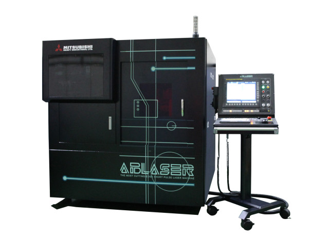 The ABLASER laser micromachining system. (Image courtesy of Mitsubishi Heavy Industries Machine Tool.)