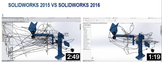 SOLIDWORKS new UI promises improved workflows designed by users and human behaviour. Picture taken at SOLIDWORKS 2016 launch.