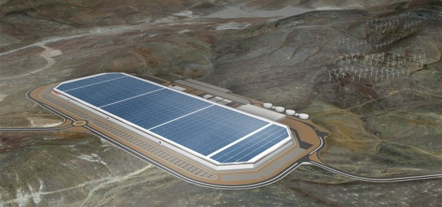 The Tesla Gigafactory, a USD$5-billion battery behemoth. (Image courtesy of Tesla Motors.)