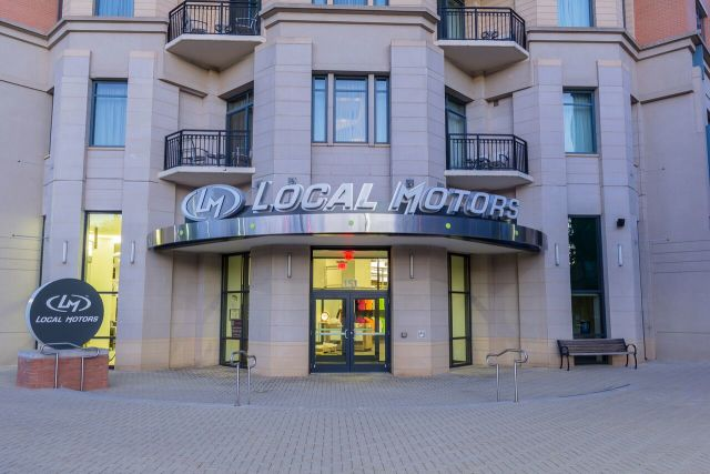 The new Local Motors facility in National Harbor, Maryland. (Image courtesy of Local Motors.)