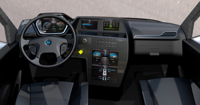 Concept of the Nikola One interior. (Image courtesy of Nikola Motor Company.)