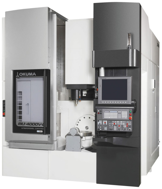 The MU-4000V vertical 5-axis machining center. (Image courtesy of OKUMA.)