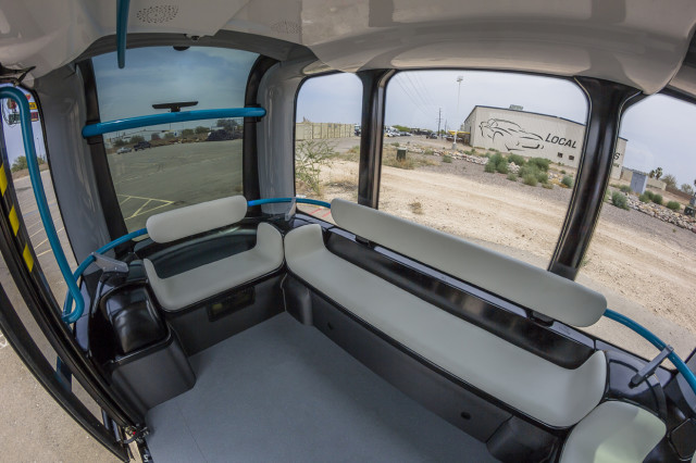 Olli has a 12-person capacity. (Image courtesy of Local Motors.)