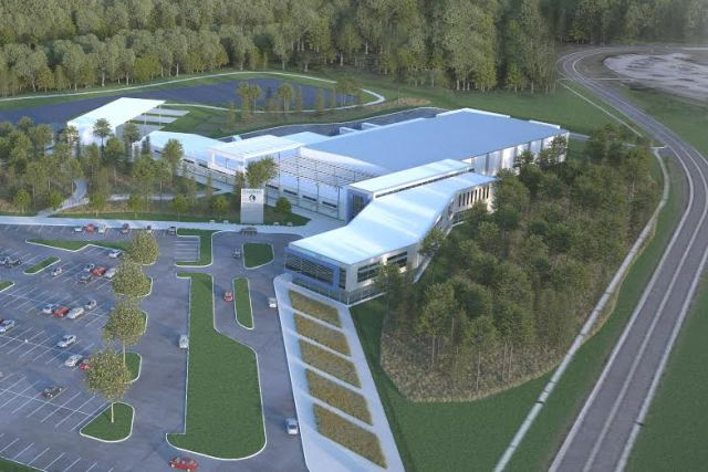Rendering of the new facility. (Image courtesy of OneWeb.)