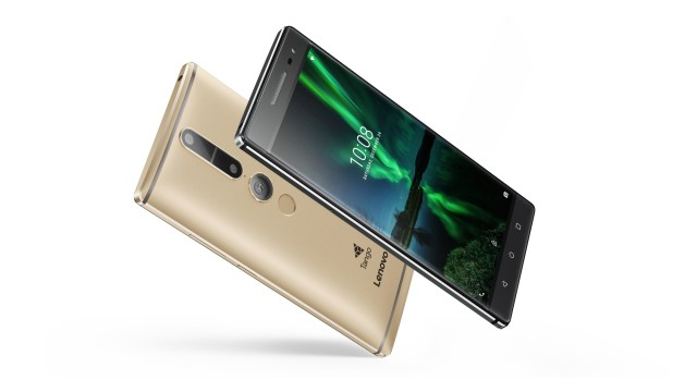 The Phab 2 Pro from Lenovo is the first Tango-enabled consumer smartphone. (Image courtesy of Lenovo.)