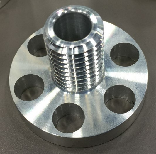 Part turned and machined at Proto Labs.
