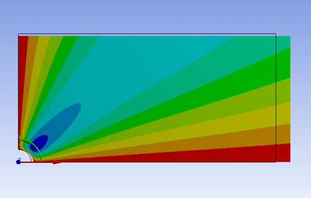 Finite element analysis (FEA) experiment from the SimCafe MOOC.