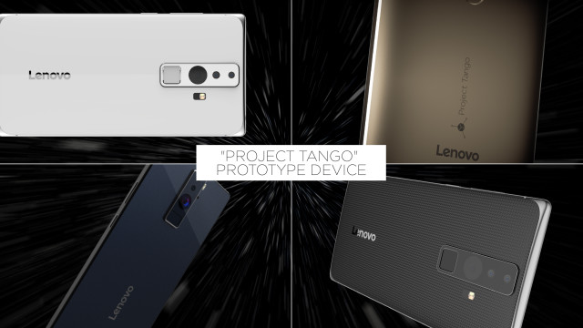 This prototype Project Tango smartphone was announced by Google and Lenovo at CES 2016. (Image courtesy of Lenovo.)