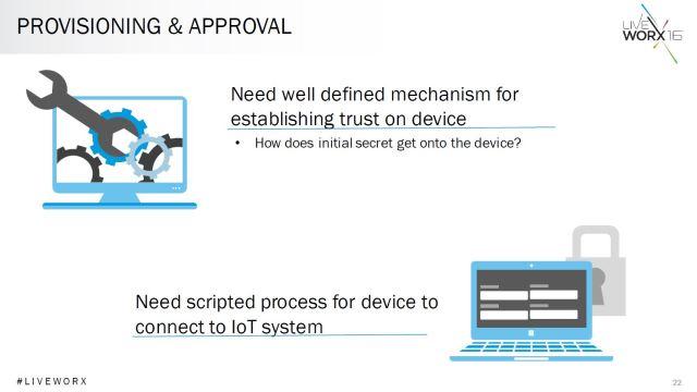 Black explains the importance of provisioning mechanisms on IoT devices. (Image courtesy of PTC.)