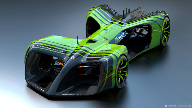 NVIDIA unveiled its autonomous race car proposal earlier this year. (Image courtesy of NVIDIA.)