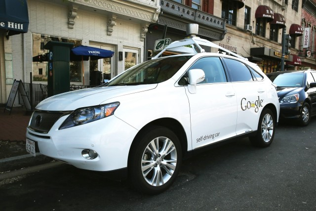 One of many - Google's self-driving Lexus. (Image courtesy of Mark Wilson.)