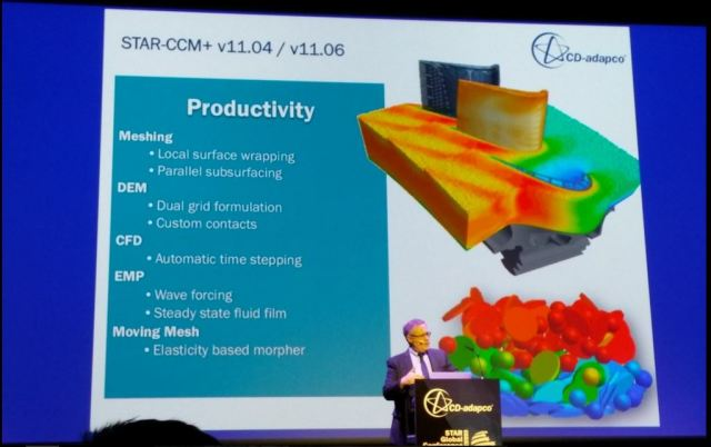 Ercolanelli talks about the productivity enhancements of versions 11.04 and 11.06 of STAR-CCM+.