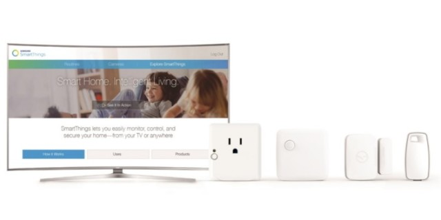 Samsung's Smart TV line is now able to connect IoT devices through the SmartThings Platform. (Image courtesy of Samsung.)
