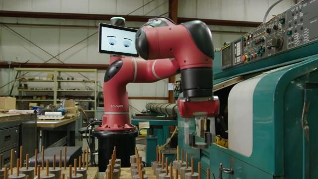 Rethink Robotics Sawyer. (Image courtesy of Rethink Robotics.)