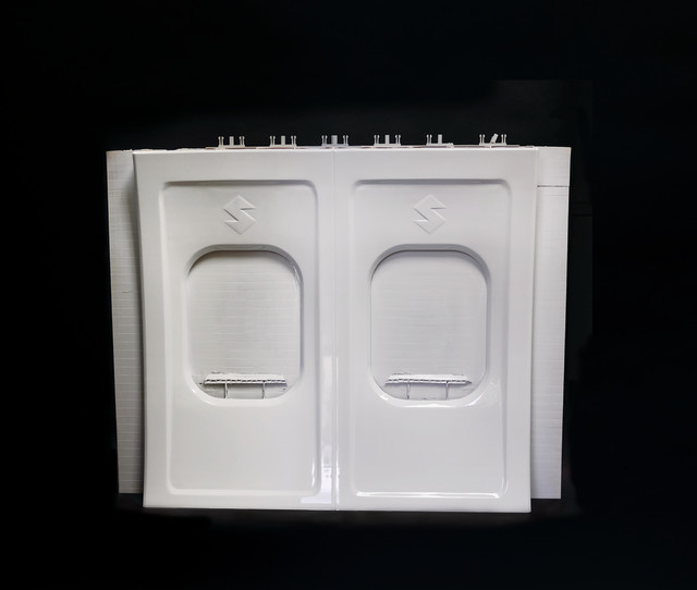 Aircraft panel produced by the Infinite-Build 3D Demonstrator. (Image courtesy of Stratasys.)