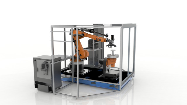 The Robotic Composite 3D Demonstrator. (Image courtesy of Stratasys.)