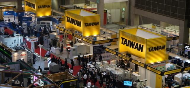 Taiwanese companies at the Japan International Machine Tool Fair (JIMTOF). (I.age courtesy of Taiwan External Trade Development Council.)