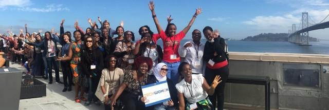 2016 TechWomen participants in California. (Image courtesy of TechWomen.)