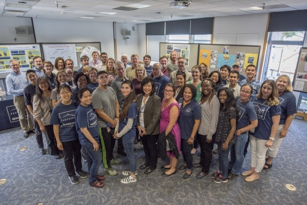 The Berkeley Lab used the TechWomen program as an opportunity to acknowledge employees who had volunteered for mentoring, outreach and educational programs. (Image courtesy of Marilyn Chung, Berkeley Lab.)
