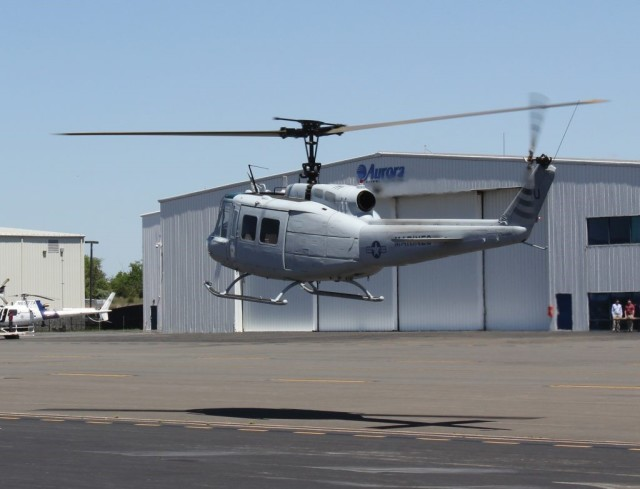 Aurora's UH-1H Huey helicopter. (Image courtesy of Aurora Flight Sciences.)